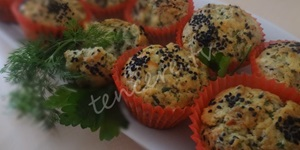 Peynirli Otlu Muffin