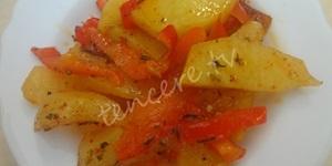 Mikrodalgada Biberli Patates