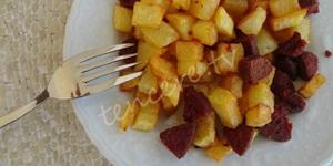 Sucuklu Patates Sote