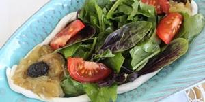Peynirli Patlıcanlı Ekşimen Salatası