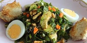 Hardal Otlu Avakadolu Yumurta Salatası
